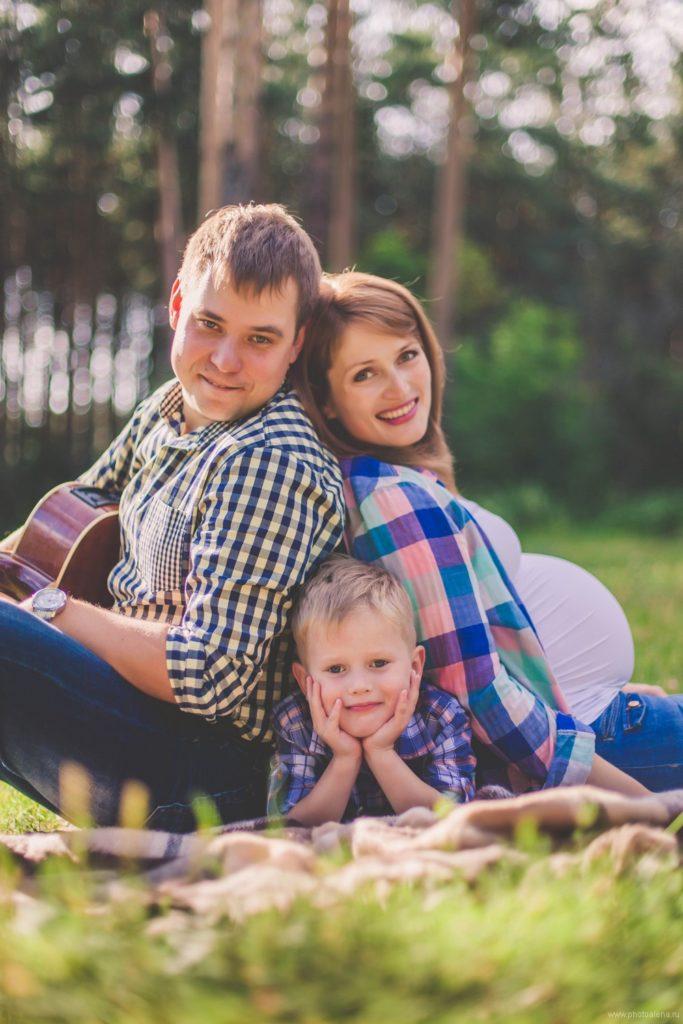 Семейное фото с детьми беременность