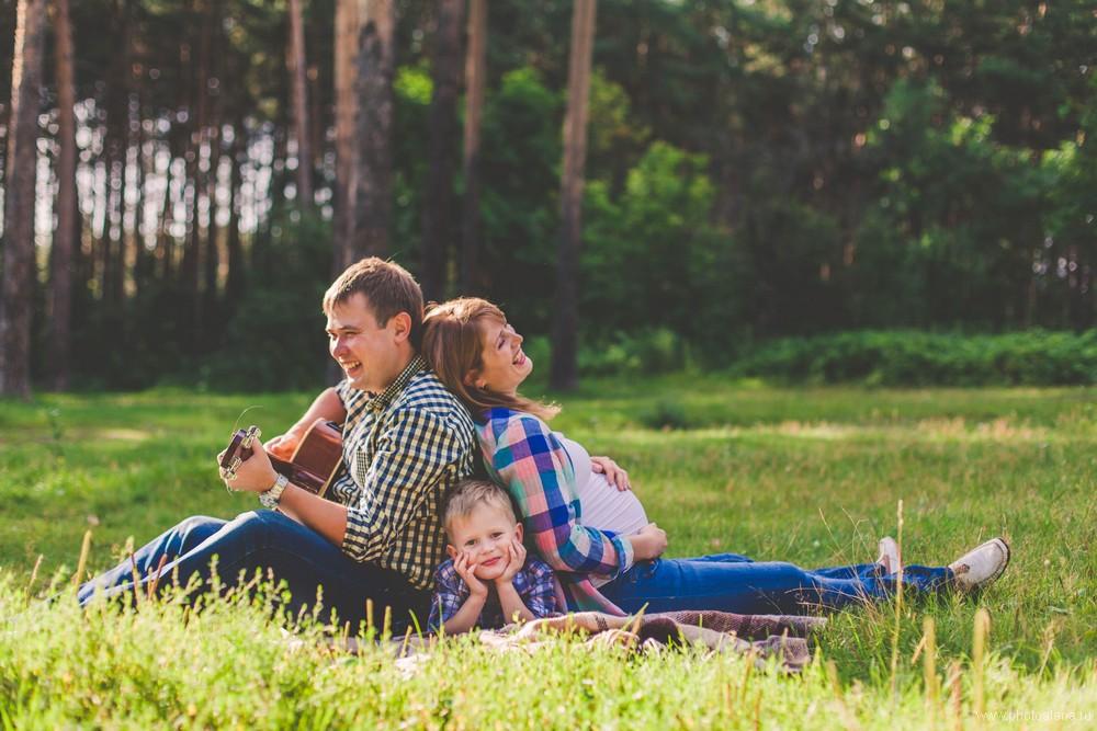 Алла и Фёдор с сыном Вовой — Семейная фотосессия