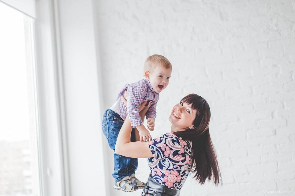 Ирина и Полина с детьми — Семейная фотосессия