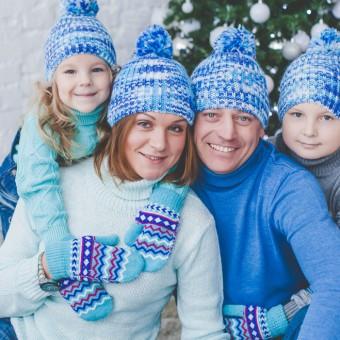 Ксения и Андрей с детьми