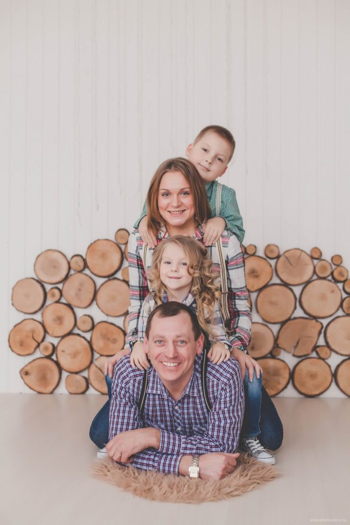Ксения и Андрей с детьми — Семейная фотосессия