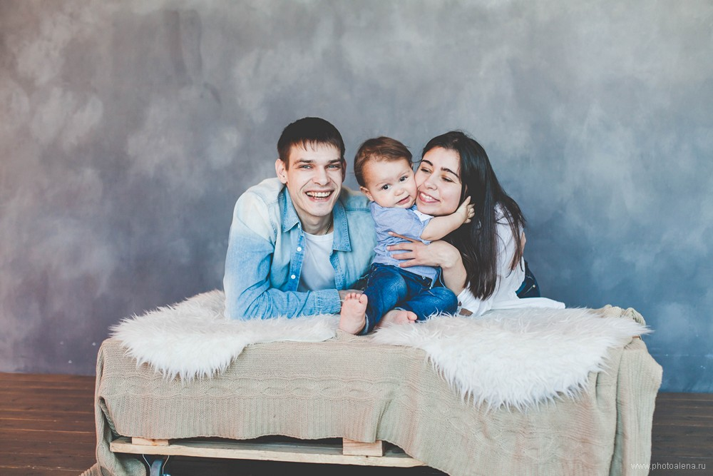 Ирина и Алексей с сыном — Семейная фотосессия
