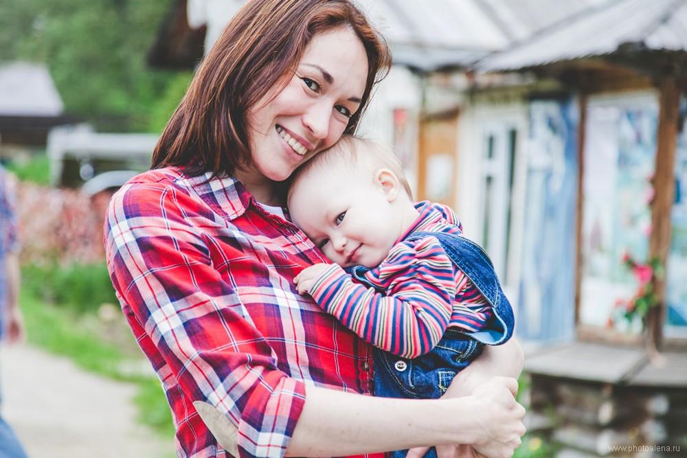 Лиля и Дима с дочкой Василисой — Семейная фотосессия