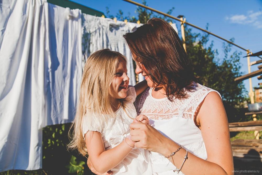 Ксения с дочкой Соней — Семейная фотосессия
