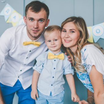 Лена и Дима с сыном Даниилом
