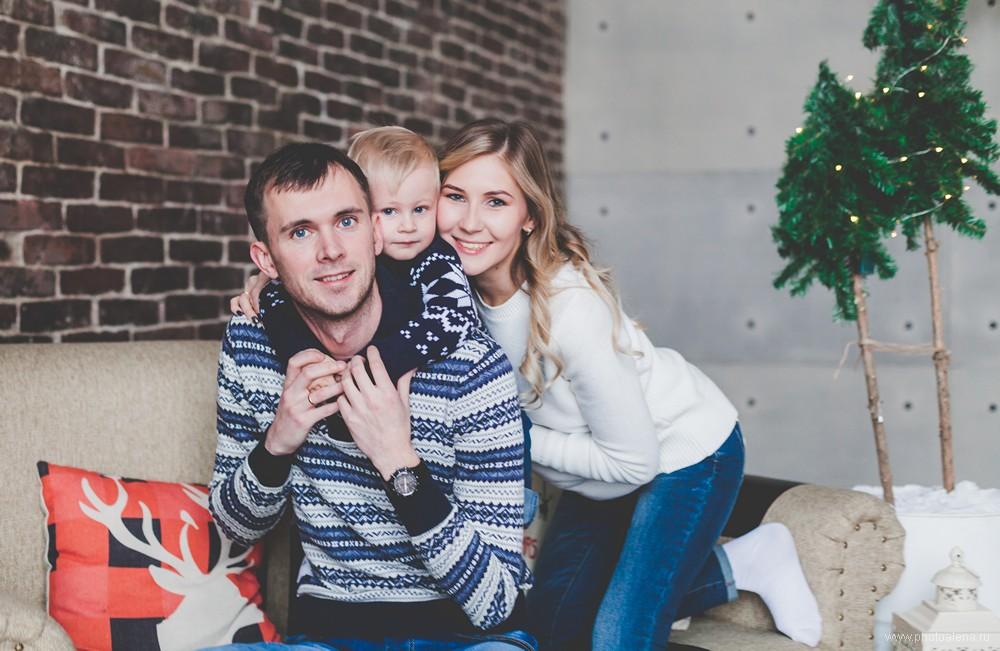 Лена и Дима с сыном Даниилом — Семейная фотосессия
